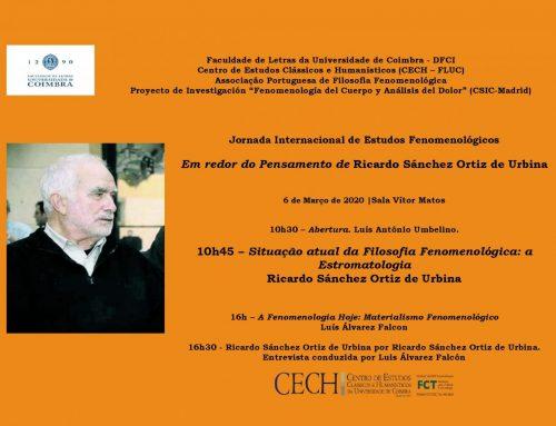 Jornada Internacional de Estudos Fenomenológicos. Coimbra 2020
