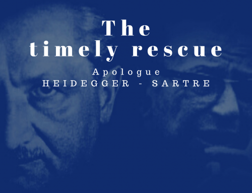 El oportuno rescate. The timely rescue. Apologue Heidegger-Sartre